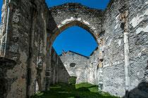 Kirchenruine San Gaudenzio oberhalb Casaccia