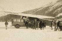 Flugzeug auf dem St.Moritzersee