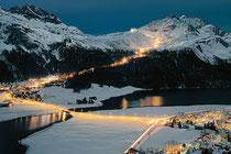 Silvaplana Snow Night
