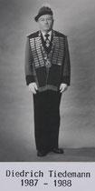 Diedrich Tiedemann - 1987/1988