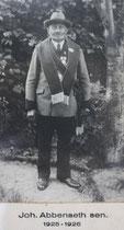 Johann Abbenseth sen. - 1925/1926