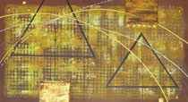 pyramides, zoom4, tableau abstrait.abstraction