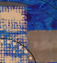 bleu - zoom2. tableau abstrait abstraction
