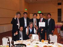 前列左から:谷本、奥。 後列左から:蜂谷、川辺、山崎、岡嶋、大村。