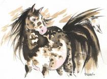 Cheval appalousa (vendu - existe en reproduction - réf CHE002