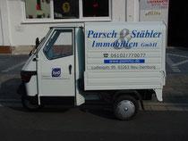"""Fahrzeugbeschriftung auf italienischem LKW """"Parsch & Stäbler"""""""