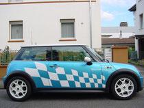 "Fahrzeugbeschriftung Tuning-Aufkleber ""Rennflagge"""