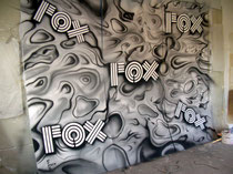 Schaufenster Deco-lackierte Holzplatten