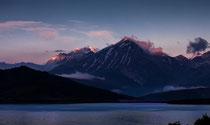 Lago di Campotosto, tramonto