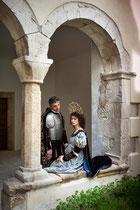 Sulmona, cortile medioevale