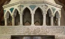 San Pietro ad Oratorium, particolare del ciborio