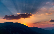 Morrone, tramonto