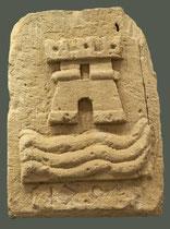 Ortona, Museo Diocesano. Frammento lapideo con stemma di Ortona