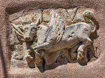 Santo Stefano, simbolo dell'Evangelista Luca
