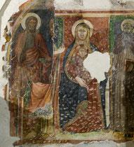 Rosciolo, Santa Maria delle Grazie. Strati di affreschi di epoche diverse