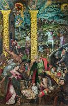 Ortona, Museo Diocesano.  Ignoto, Adorazione dei pastori, 1581, olio su tela