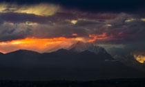 Gran Sasso, tramonto da Chieti