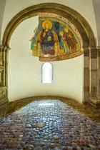 San Giovanni in Venere, cripta. Abside di sinistra, Cristo in trono e i Santi Vito e Filippo
