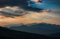 Gran Sasso, tramonto da Lama Bianca sulla Maiella