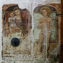 Rosciolo, Santa Maria delle Grazie. Affresco