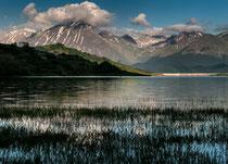 Lago di Campotosto e il Gran Sasso