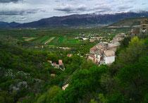 Prezza, veduta sulla Valle Peligna