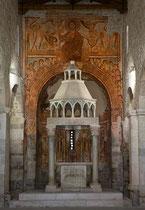 San Pietro ad Oratorium, l'abside col ciborio
