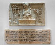 Ortona, Museo Diocesano. Bassorilievo con Cristo e gli Strumenti della Passione