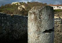 Alba Fucens, pietra miliare sulla via Valeria