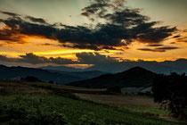 Schiavi d'Abruzzo, tramonto sulla Majella