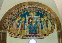 San Giovanni in Venere, cripta. Cristo in trono fra i santi Giovanni evangelista, Giovanni Battista, Pietro e Paolo.