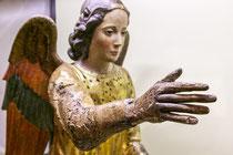 Santo Stefano, gruppo scultoreo dell'Annunciazione, particolare