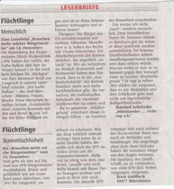 Leserbriefe E. Goldberg und M. Schründer, WN 19.12.2013