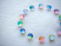 pebble         :glass,14kgf//////pierced earrings