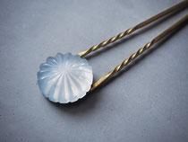 hanabi           :glass, brass gold-plating//////kanzashi