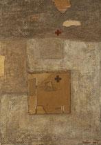 Ohne Titel, 1997, Mischtechnik auf Nessel, 150 x 105 cm