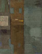 Ohne Titel, 1996, Mischtechnik auf Nessel, 140 x 110 cm