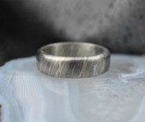 1E - Mokume Gane Ring Nr.7E - Palladium 500, Silber 935