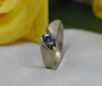11E - Verlobungsring Ring Palladium Weißgold 14K, Zirkonia