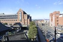 北側眺望 同志社大学 寒梅館
