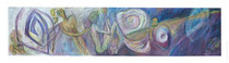 """© LillaHangay, Nine lives, 1992, graphite and oil pastel crayons on wood panel, ca 14 x 61"""""""