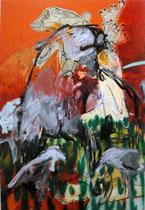 Cane con gabbiani, 70x100cm, 2012