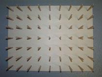 Brett für 63 Fadenspulen mit 4cm Durchmesser