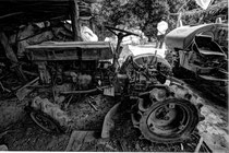 Tractor in Phnam Banan Winery near Battambong