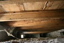 sous les voliges il y a le vide sanitaire d'une hauteur de 35cm