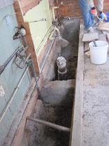 les canalisations WC /sdb à découvert