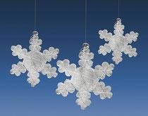 Glitzernde Glas-Sterne, nicht nur als Baumschmuck.