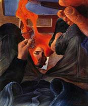 Lukas Johannes Aigner, Acryl/Öl auf Tafel, 90x70 cm, 2008