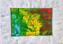 14. Öl-Auf pappe gemalt, mit pappe gerahmt, hinten mit holz gerahmt versteift, Größe 50 x 70 cm, -öl gelackt+signiert, 800 €
