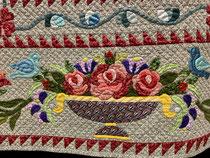 Detail du patchwork Hand in Hand Taeko Ido